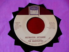 MARVELETTES~ DESTINATION ANYWHERE~ VG+~WHAT'S EASY FOR TWO IS HARD FOR ~ SOUL 45