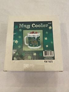 St. Patrick's Green Inflatable Mug Cooler One Size, New, Ships Within 24 Hours.