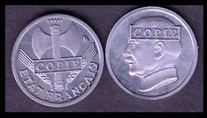 ★★ JOLIE COPIE DE L'ESSAI ALUMINIUM DE LA 50 CENTIMES 1941 PETAIN ★★★ NEUVE FDC