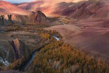VLIES Fototapete-LANDSCHAFT-(3762V)-Berge See Bäume Fluss Gebirge Wüste Wald XXL