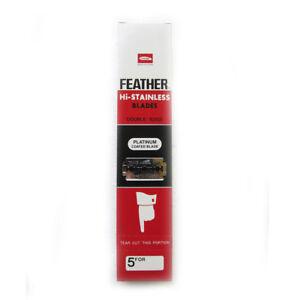 100 Feather Hi-Stainless Platinum Rasierer Rasieren Rasierklingen Klinge Klingen
