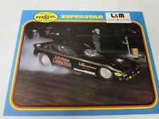 NHRA 1978 Superstar Lil John Lombardo Plymouth Funny Car DRacing Track Handout
