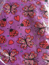 1 Yard PRETTY BUTTERFLY / LADYBUG THEME COTTON FABRIC .. Great Fabric