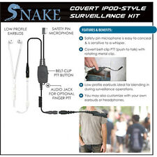 SNAKE Quick Release Ipod-Style Earpiece for Motorola XPR3000 XPR3300 XPR3500