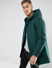 NWT ASOS Men's Size Large Green Hooded Trench Coat