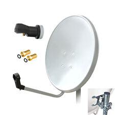 60cm HD Sat Anlage Digital Single LNB 4K 1 Teilnehmer Schüssel Antenne Spiegel