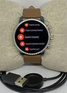 Fossil Explorist HR Gen 4 FTW4016 Men's Brown Leather Digital Dial Smart Watch