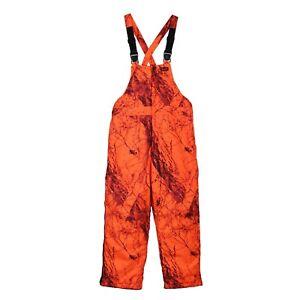Gamehide Insulated Blaze Orange Camo Deerhunter Bibs