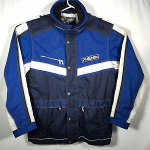Phenix Ski Jacket Men's XL Blue W/ Hood Vintage