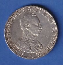 Deutsches Kaiserreich Preußen Silbermünze 5 Mark Kaiser Wilhelm II. 1914