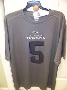 Baltimore RAVENS Joe Flacco #5 TX3 COOL Polyester T-Shirt XL
