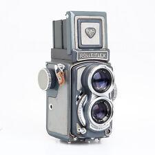 Rolleiflex 4x4 Baby Gray TLR Film Camera w/ Schneider Xenar 60mm F3.5 Lens