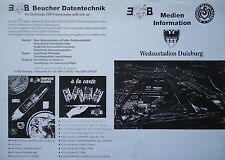 Medien Info 1997/98 MSV Duisburg - FC Kaiserslautern