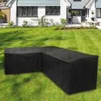 L Shape Waterproof Garden Rattan Corner Furniture Cover Outdoor Sofa Protect AU