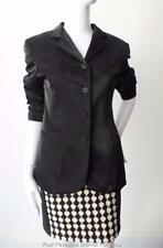 JIGSAW  Black Jacket Size 8 -10 US 4 - 6 Made in Australia fabric Made in France