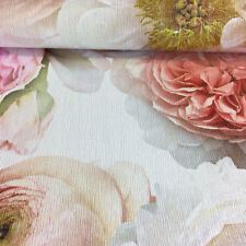 Diamond Bloom Floral Blush Wallpaper Glitter Embossed Vinyl Pink Arthouse