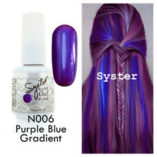 SYSTER 15ml Nail Art Soak Off Color UV Gel Polish N006 - Purple Blue Gradient
