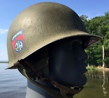 Decal 82nd AIRBORNE M1 Helmet &Liner 325 ABN Korea 1951 IDENTIFIED US Army WW2