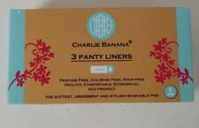NEW Charlie Banana Reusable 3 Feminine Pads Liner With 1 Pouch. FREE SHIPPING!!