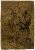 Antique Master Print-RELIGION-SAINT FRANCIS OF ASSISI-BOLOGNA-Faccini-ca. 1600
