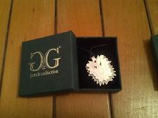 Collana con ciondolo G&G jewels collection Leone in Acciaio e rubino swarovski