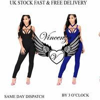 Vincenza UK Womens Summer Ladies Jumpsuit Evening Party Holiday Playsuit Ladies