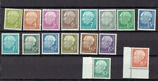 Germany (Fed Rep)1954- set of 16 Heuss stamps 1st 8 stamps MNH 8 stamps MH Rare