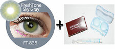 Contact Lenses Colored  FRESHTONE® Sky Gray + Case + AVIZOR solution 10 ML