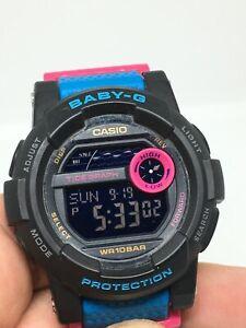 Casio Baby-G Women 3429 BGD-180 Watch Blue Silicone Strap Light READ DESCRIPTION