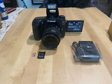 Canon EOS 80D 24.2MP Digital SLR Camera - Black 8GB SD Card EF-S 18-55mm Lens D2