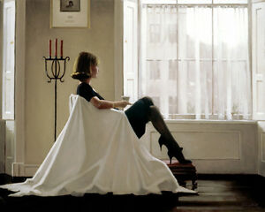 Jack Vettriano Greeting Card - In Thoughts of You