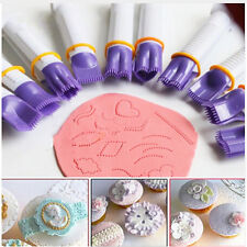10X Plastic Curve Crimpers Style Lace Edge Sides Clip Pastry Cake Decorating Set