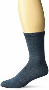 K. Bell Women's Soft & Dreamy Marl Crew Socks, Blue, Sock Size 9-11