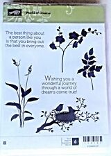 WORLD OF DREAMS Come True  FLOWERS Silhouettes BIRDS NEST LEAf Rubber Stampin Up
