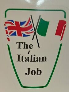 The Italian Job Car Vespa Lambretta Scooter Camper Van Decal Sticker