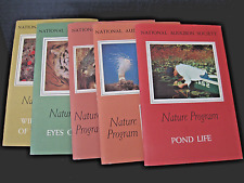 NATIONAL AUDUBON SOCIETY NATURE PROGRAM VINTAGE BOXED BOOK SET IN CASE