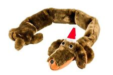 Goodboy Christmas Festive Santa Sausage Dog Squeaky Dog Plush Toy 10108 Xmas