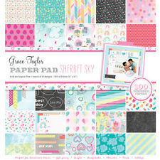 "Grace Taylor Sherbet Sky 100 Sheets 12"" x12"" Bumper Paper Kit * FREE POST *"