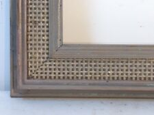 VINTAGE WOOD / RATTAN  GREY FRAME FOR PAINTING  20 X 16  INCH