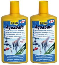 2 x 500ml TETRA AQUASAFE TAP SAFE WATER CONDITIONER SPECIAL OFFER!!!
