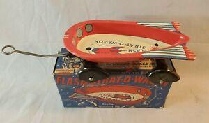 Crisp MIB 1950's Wyandotte Litho Tin Space Flash Strat-O-Wagon NO Reserve