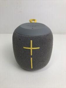 Ultimate Ears WONDERBOOM Wireless Portable Speaker ONLY -  SubZero Grey/yellow