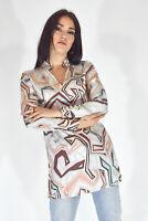 EMILIO PUCCI Camicia Multicolore In Seta Stile Super Cool Taglia S Donna Woman