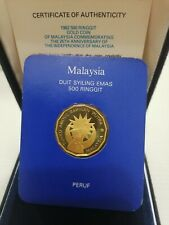 Willie: 1982 Malaysia Rm500 Gold Proof with cert and box