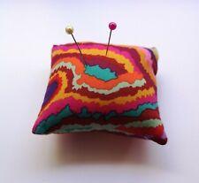 "Mini Pin Cushion 3"" - Kaffe Fassett Jupiter Multi Fabric"