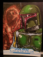 Boba Fett Galactic Files Star Wars Topps Sketch Card Artist Proof Kurt Ruskin