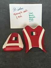 08-15 Yamaha YZF-R6 & R6S Custom Seats Set Front & Rear. Pearl White & Red