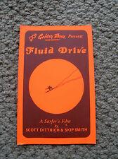 vintage surfing surf movie sticker decal fluid drive golden breed surfboard 1970