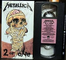 1989 VHS TAPE-METALLICA-2 OF ONE-#40109-3-STEREO WITH DOLBY SOUND