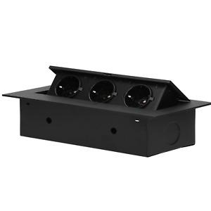 Versenkbare Einbau Steckdosenleiste Tisch Steckdose  3fach 3600W  Schuko